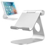 "Tablet Stand, iPad Stand, Cell Phone Stand, Comsoon Adjustable Holder, Charging Dock for Smartphones, iPad Pro 9.7 10.5 12.9, iPad Air, iPad Mini, Samsung Tabs, E-reader (4-13"") (Silver)"